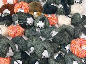 Fancy Yarns In this list; you see most recent 50 mixed lots. <br> To see all <a href=&/mixed_lots/o/4#list&>CLICK HERE</a> (Old ones have much better deals)<hr> This mixed lot includes a total of 2000 gr (70.5 oz.) yarn. There is no standard for ball weight. Also disregard any information on the labels. You will get what you see in the photo. Brand Ice Yarns, fnt2-66407