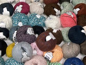 Winter Yarns In this list; you see most recent 50 mixed lots. <br> To see all <a href=&/mixed_lots/o/4#list&>CLICK HERE</a> (Old ones have much better deals)<hr> This mixed lot includes a total of 2000 gr (70.5 oz.) yarn. There is no standard for ball weight. Also disregard any information on the labels. You will get what you see in the photo. Brand Ice Yarns, fnt2-66434