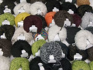 Fancy Yarns In this list; you see most recent 50 mixed lots. <br> To see all <a href=&/mixed_lots/o/4#list&>CLICK HERE</a> (Old ones have much better deals)<hr> This mixed lot includes a total of 2000 gr (70.5 oz.) yarn. There is no standard for ball weight. Also disregard any information on the labels. You will get what you see in the photo. Brand Ice Yarns, fnt2-66468