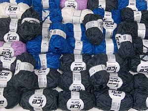 Samba Ribbon In this list; you see most recent 50 mixed lots. <br> To see all <a href=&/mixed_lots/o/4#list&>CLICK HERE</a> (Old ones have much better deals)<hr> This mixed lot includes a total of 2000 gr (70.5 oz.) yarn. There is no standard for ball weight. You will get what you see in the photo. Fiber Content 100% Acrylic, Brand Ice Yarns, fnt2-66515