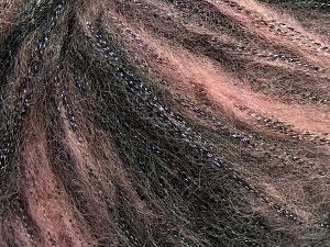 Fiber Content 30% Acrylic, 30% Polyester, 25% Wool, 15% Metallic Lurex, Light Pink, Brand Ice Yarns, Black, Yarn Thickness 4 Medium  Worsted, Afghan, Aran, fnt2-66538