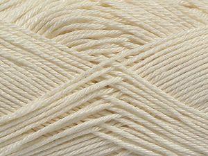 Fiberinnehåll 100% Merceriserad bomull, Off White, Brand Ice Yarns, Yarn Thickness 2 Fine  Sport, Baby, fnt2-66560