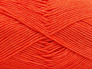 Fiber Content 50% Cotton, 50% Acrylic, Neon Orange, Brand Ice Yarns, Yarn Thickness 2 Fine  Sport, Baby, fnt2-66562