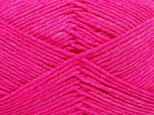 Fiber Content 50% Cotton, 50% Acrylic, Neon Pink, Brand Ice Yarns, Yarn Thickness 2 Fine  Sport, Baby, fnt2-66563