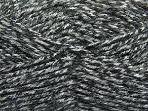Worsted  Fiber Content 100% Acrylic, White, Brand Ice Yarns, Grey Shades, Yarn Thickness 4 Medium  Worsted, Afghan, Aran, fnt2-66570