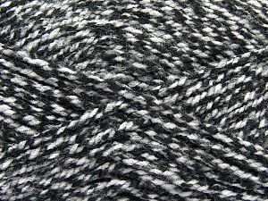 Bulky  Fiber Content 100% Acrylic, White, Brand Ice Yarns, Black, Yarn Thickness 5 Bulky  Chunky, Craft, Rug, fnt2-66573