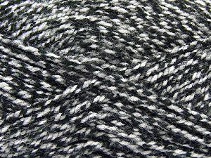 Bulky  Fiber Content 100% Acrylic, White, Brand Ice Yarns, Black, Yarn Thickness 5 Bulky  Chunky, Craft, Rug, fnt2-66573