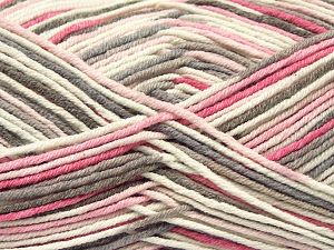 Fiber Content 50% Cotton, 50% Acrylic, Pink, Brand Ice Yarns, Cream, Camel, Yarn Thickness 2 Fine  Sport, Baby, fnt2-66577