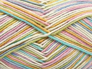 Fiber Content 50% Cotton, 50% Acrylic, Pastel Rainbow, Brand Ice Yarns, Yarn Thickness 2 Fine  Sport, Baby, fnt2-66583