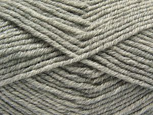 Fiber Content 60% Merino Wool, 40% Acrylic, Light Grey, Brand Ice Yarns, Yarn Thickness 3 Light  DK, Light, Worsted, fnt2-66589