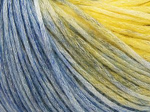 Modal is a type of yarn which is mixed with the silky type of fiber. It is derived from the beech trees. Fiber Content 74% Modal, 26% Wool, Yellow, Brand Ice Yarns, Blue Shades, Yarn Thickness 3 Light DK, Light, Worsted, fnt2-66597