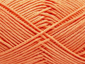 Fiber Content 50% Bamboo, 50% Acrylic, Light Salmon, Brand Ice Yarns, Yarn Thickness 2 Fine  Sport, Baby, fnt2-66601