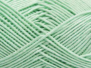 Fiber Content 50% Bamboo, 50% Acrylic, Light Mint Green, Brand Ice Yarns, Yarn Thickness 2 Fine Sport, Baby, fnt2-66602