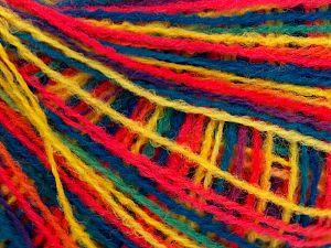 Fiber Content 100% Acrylic, Yellow, Turquoise, Neon Pink, Brand Ice Yarns, Green, fnt2-66604