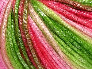 Fiber Content 56% Polyester, 44% Acrylic, Pink Shades, Brand Ice Yarns, Green Shades, Yarn Thickness 4 Medium  Worsted, Afghan, Aran, fnt2-66606