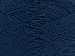 Baby cotton is a 100% premium giza cotton yarn exclusively made as a baby yarn. It is anti-bacterial and machine washable! Fiber Content 100% Giza Cotton, Navy, Brand Ice Yarns, Yarn Thickness 3 Light  DK, Light, Worsted, fnt2-66611