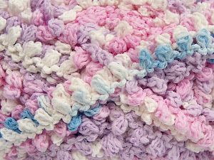Fiber Content 50% Polyamide, 50% Acrylic, White, Light Pink, Light Lilac, Light Blue, Brand Ice Yarns, Yarn Thickness 6 SuperBulky  Bulky, Roving, fnt2-66619