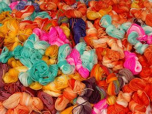 Magic Light Leftover  This lot consists of about 100 hanks of Magic Light leftover yarn. The total weight is 2000 gr (70.5 oz.). In this list; you see most recent 50 mixed lots. <br>