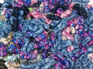 Rockabilly Leftover This mixed lot includes unlabeled leftover yarns. There is no standard for fiber content and ball weight. The total weight is 2000 gr (70.5 oz.). You will get what you see in the photo. In this list; you see most recent 50 mixed lots. <br>