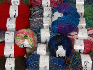 Winter Yarns This mixed lot includes a total of 2000 gr (70.5 oz.) yarn. There is no standard for ball weight. Also disregard any information on the labels. You will get what you see in the photo. In this list; you see most recent 50 mixed lots. <br>