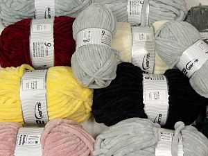 Chenille Types This mixed lot includes a total of 2000 gr (70.5 oz.) yarn. There is no standard for ball weight. Also disregard any information on the labels. You will get what you see in the photo. In this list; you see most recent 50 mixed lots. <br>