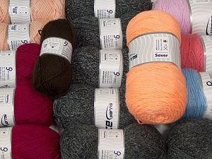 Acrylic Yarns This mixed lot includes a total of 2000 gr (70.5 oz.) yarn. There is no standard for ball weight. Also disregard any information on the labels. You will get what you see in the photo. In this list; you see most recent 50 mixed lots. <br>