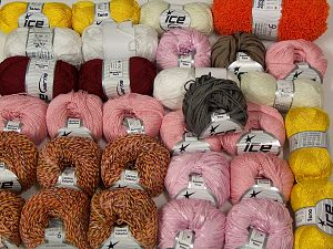 Summer Yarns This mixed lot includes a total of 2000 gr (70.5 oz.) yarn. There is no standard for ball weight. Also disregard any information on the labels. You will get what you see in the photo. In this list; you see most recent 50 mixed lots. <br> To see all <a href=&/mixed_lots/o/4#list&>CLICK HERE</a> (Old ones have much better deals)<hr> Brand Ice Yarns, fnt2-66682