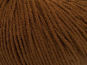 Modal is a type of yarn which is mixed with the silky type of fiber. It is derived from the beech trees. Fiber Content 55% Modal, 45% Acrylic, Brand Ice Yarns, Brown, fnt2-66690