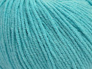 Modal is a type of yarn which is mixed with the silky type of fiber. It is derived from the beech trees. Fiber Content 55% Modal, 45% Acrylic, Light Turquoise, Brand Ice Yarns, fnt2-66697