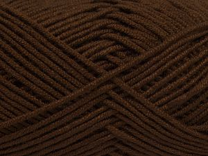 Fiber Content 50% Acrylic, 50% Bamboo, Brand Ice Yarns, Brown, fnt2-66771