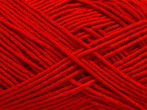 Fiber Content 50% Acrylic, 50% Bamboo, Red, Brand Ice Yarns, fnt2-66772