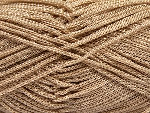 Width is 3 mm Fiber Content 100% Polyester, Light Camel, Brand Ice Yarns, fnt2-66781