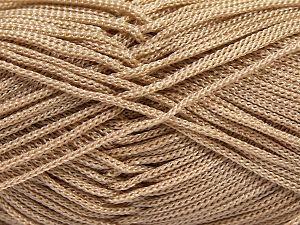 Width is 3 mm İçerik 100% Polyester, Light Camel, Brand Ice Yarns, fnt2-66781