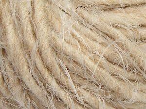 Fiber Content 40% Polyamide, 30% Merino Wool, 15% Alpaca, 15% Acrylic, Light Cream, Light Beige, Brand Ice Yarns, fnt2-66801