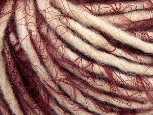 Fiber Content 40% Polyamide, 30% Merino Wool, 15% Alpaca, 15% Acrylic, Light Beige, Brand Ice Yarns, Burgundy, fnt2-66803