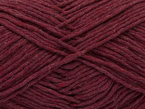 Fiber Content 100% Cotton, Brand Ice Yarns, Burgundy, Yarn Thickness 4 Medium  Worsted, Afghan, Aran, fnt2-66813