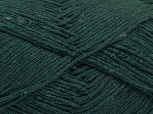 Fiber Content 100% Cotton, Brand Ice Yarns, Dark Green, Yarn Thickness 4 Medium  Worsted, Afghan, Aran, fnt2-66817