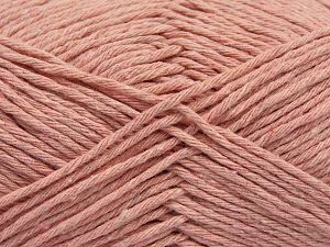 Fiber Content 100% Cotton, Brand Ice Yarns, Baby Pink, Yarn Thickness 4 Medium  Worsted, Afghan, Aran, fnt2-66821