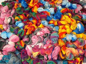 Magic Light Leftover These photos are representative. This item includes 'Magic Light Leftover' yarn. This lot consists of randomly selected colors by our company about 100 hanks of 'Magic Light Leftover' yarn. The total weight is 2000 gr (70.5 oz.). In this list; you see most recent 50 mixed lots. <br>