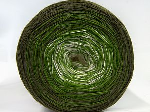 Fiber Content 50% Cotton, 50% Acrylic, White, Khaki, Brand Ice Yarns, Green, fnt2-66858