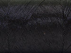 Fiber Content 70% Metallic Lurex, 30% Cotton, Brand Ice Yarns, Black, fnt2-66863