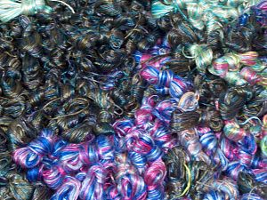 Rockabilly Leftover These photos are representative. This item includes 'Rockabilly types of Leftover' yarn. This lot consists of randomly selected colors by our company about 100 hanks of  'Rockabilly types of Leftover' yarn. The total weight is 2000 gr (70.5 oz.). In this list; you see most recent 50 mixed lots. <br>