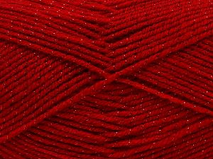 Fiber Content 94% Acrylic, 6% Metallic Lurex, Red, Brand Ice Yarns, Yarn Thickness 3 Light  DK, Light, Worsted, fnt2-66891