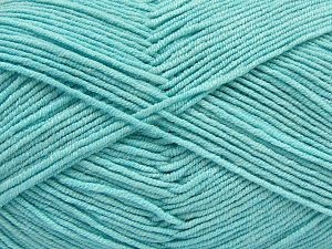 Fiber Content 50% Cotton, 50% Acrylic, Light Turquoise, Brand Ice Yarns, Yarn Thickness 2 Fine  Sport, Baby, fnt2-66896