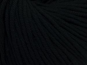 Fiber Content 50% Acrylic, 50% Cotton, Brand Ice Yarns, Black, Yarn Thickness 3 Light  DK, Light, Worsted, fnt2-66898