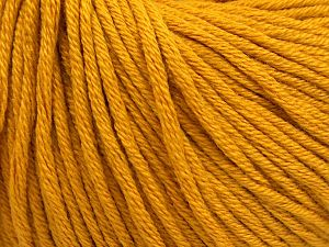 Fiber Content 50% Acrylic, 50% Cotton, Brand Ice Yarns, Gold, Yarn Thickness 3 Light  DK, Light, Worsted, fnt2-66903