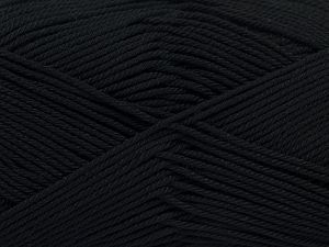 İçerik 100% Mercerised Giza Cotton, Brand Ice Yarns, Black, Yarn Thickness 2 Fine  Sport, Baby, fnt2-66914