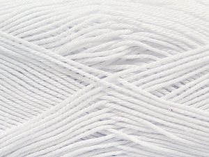 İçerik 100% Mercerised Giza Cotton, White, Brand Ice Yarns, Yarn Thickness 2 Fine  Sport, Baby, fnt2-66915