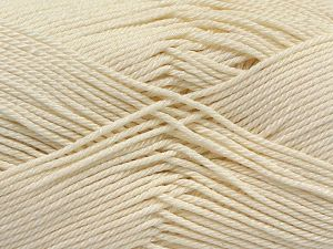 İçerik 100% Mercerised Giza Cotton, Brand Ice Yarns, Ecru, Yarn Thickness 2 Fine  Sport, Baby, fnt2-66916