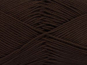 İçerik 100% Mercerised Giza Cotton, Brand Ice Yarns, Dark Brown, Yarn Thickness 2 Fine  Sport, Baby, fnt2-66917